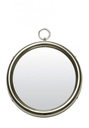 Rundt speil i nikkel Ø41