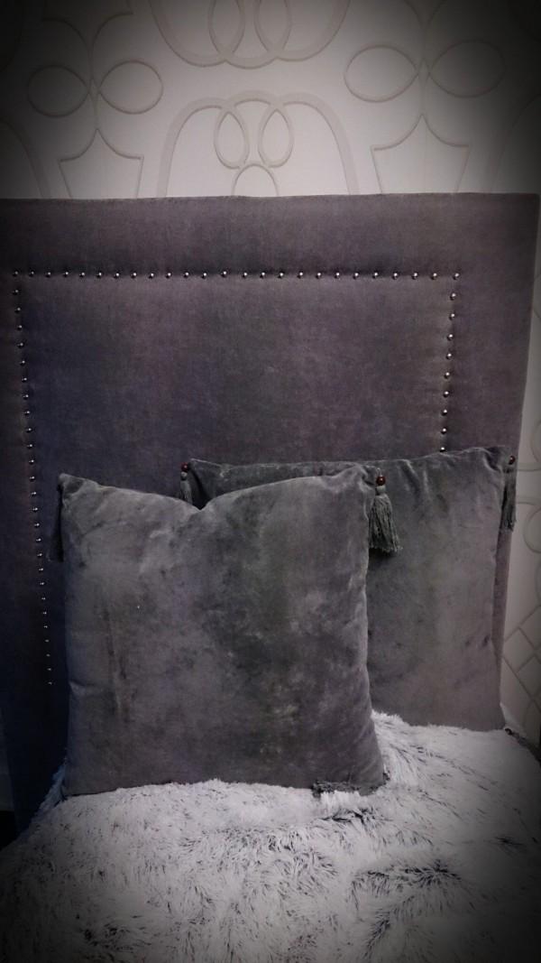 Fantastisk Sengegavl med nagler B90cm GRÅ - KN Interiør AL-31