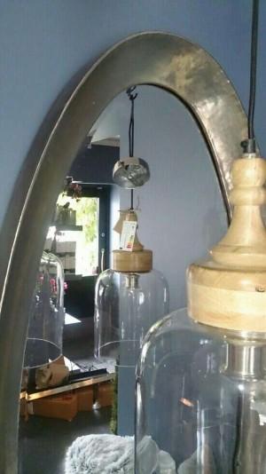 Ovalt speil 140x55cm