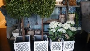 Blomsterpotte Hvit Stor