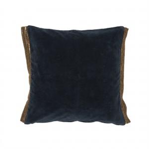 Chanel pute med paljetter, mørk blå velour