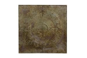 Veggornament, bilde i metall. Rust. 74x74cm