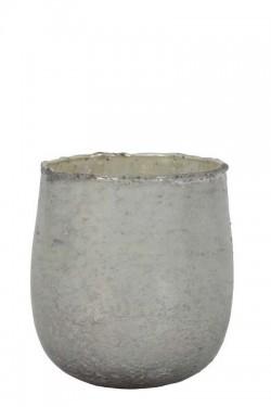 Frontes telysestake, H 12 cm. Shinywhitesilver