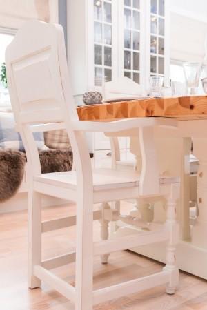 SETT Milleniumsbord 2m og åtte stoler HVIT