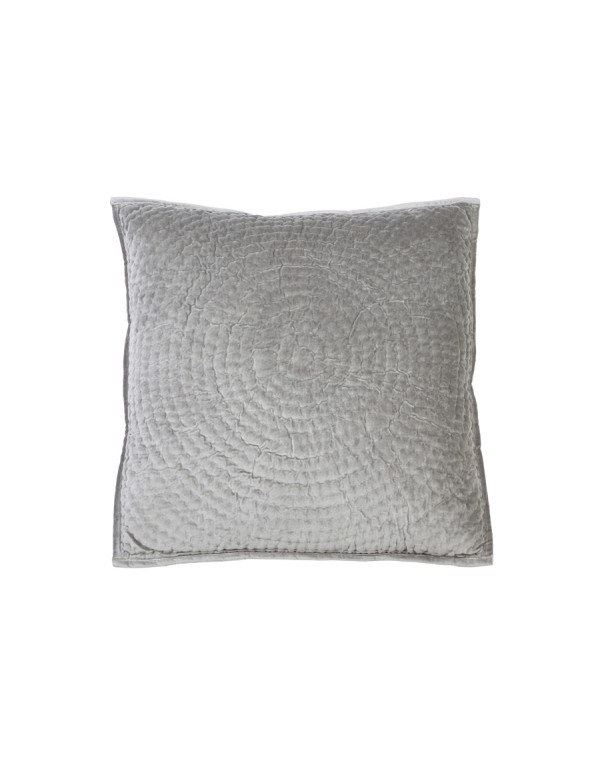 Pute circle velvet grey 50x50 kn interi r for Kommode 50x50