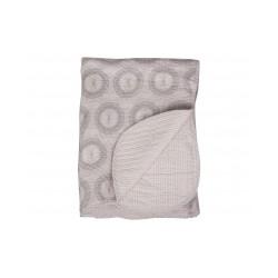 Nydelig quiltet teppe i pudderrosa 180x130