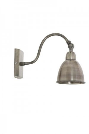 Vegglampe antique silver