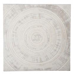 Veggdeko 115x115cm Whitewash