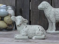 Nydelig lam, H 12cm, Farge antikk.