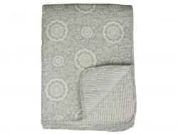 Lekkert quiltet teppe i bomull, lys grønn, 180x130