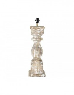 Bordlampe CADORE wood barn white